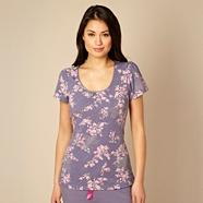 Designer purple floral pyjama top
