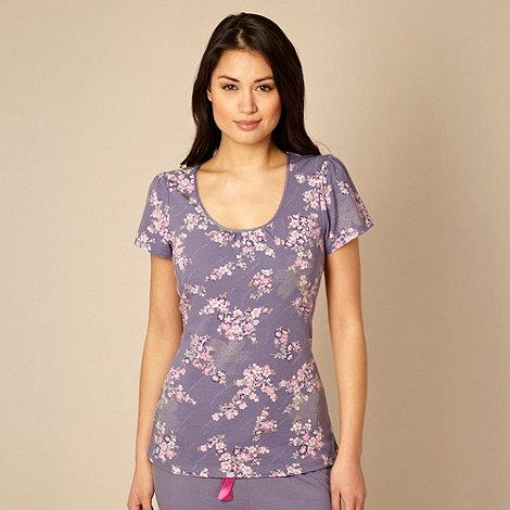 RJR.John Rocha - Designer purple floral pyjama top