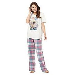 Iris & Edie - Pink fox print pyjama set