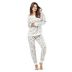 Iris & Edie - Natural enchanted print cotton pyjama set