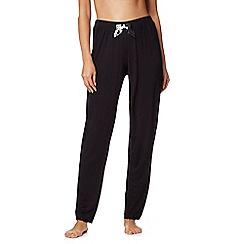 The Collection - Black rose print bow applique pyjama bottoms