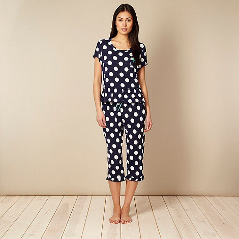 Floozie by Frost French - Designer navy spotted jersey pyjama set