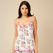 Designer purple floral cami pyjama top