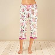 Designer purple floral pyjama bottoms