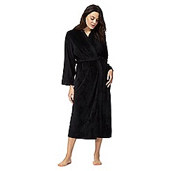 The Collection - Black dressing gown