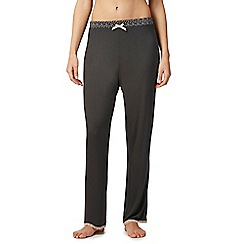 Lounge & Sleep - Grey spotted waist pyjama bottoms