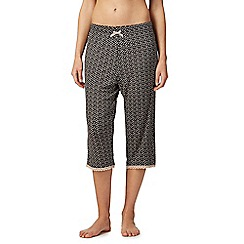 Lounge & Sleep - Grey polka dot print cropped pyjama bottoms