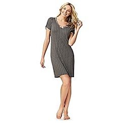 Lounge & Sleep - Grey polka dot print nightdress