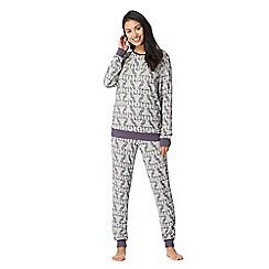 Lounge & Sleep - Cream owl print pyjama set