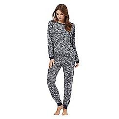 Lounge & Sleep - Navy textured pyjama set