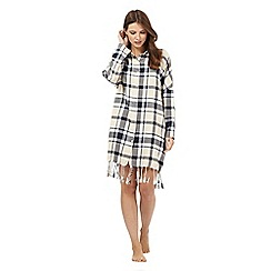 Lounge & Sleep - Blue check print nightshirt
