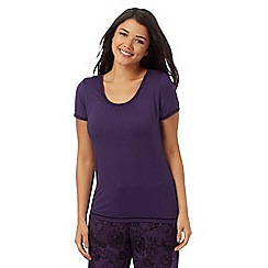 Gorgeous DD+ - Purple jersey short sleeve pyjama top