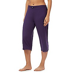 Gorgeous DD+ - Purple jersey cropped pyjama bottoms