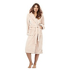 J by Jasper Conran - Light pink hooded dressing gown