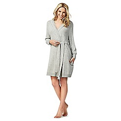 J by Jasper Conran - Grey knitted hooded cardigown