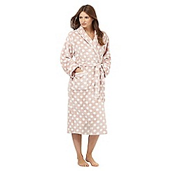 Lounge & Sleep - Pale pink spot print dressing gown
