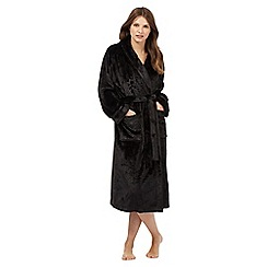 Lounge & Sleep - Black two pocket dressing gown