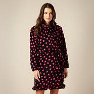 Black heart patterned dressing gown