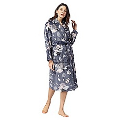 Lounge & Sleep - Blue floral print dressing gown
