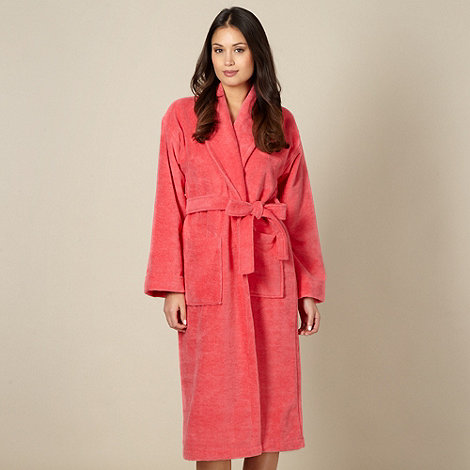 J by Jasper Conran - Designer coral velour dressing gown
