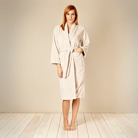 J by Jasper Conran - Designer gold velour towelling dressing gown