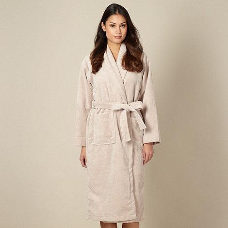 J by Jasper Conran - Designer beige velour dressing gown