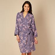 Designer purple floral wrap