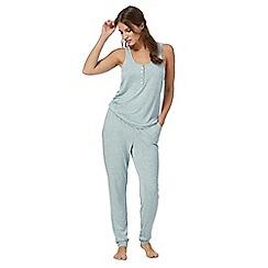 Iris & Edie - Blue marl print pyjama set