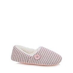 Iris & Edie - Pink knitted mule slippers