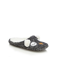 Lounge & Sleep - Grey owl mule slippers