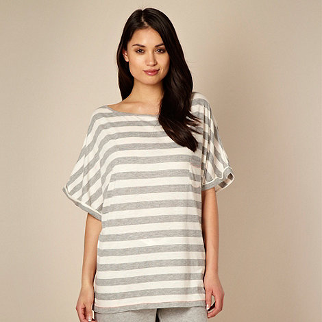 Iris & Edie - Designer grey striped neppy pyjama top