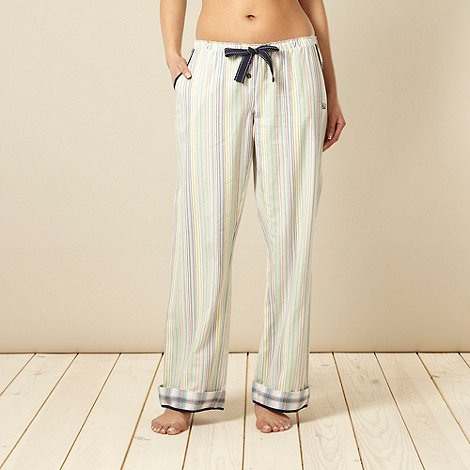 Iris & Edie - Designer green striped pyjama bottoms
