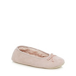 J by Jasper Conran - Pink suede ballet slippers