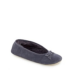 J by Jasper Conran - Grey suede ballet slippers