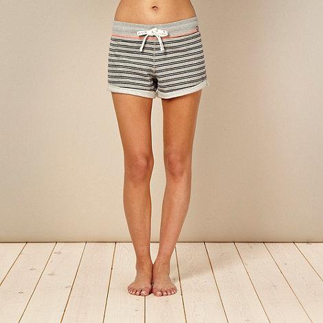 Iris & Edie - Designer grey striped pyjama shorts