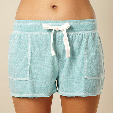 Iris & Edie - Designer light green lightweight jersey pyjama shorts