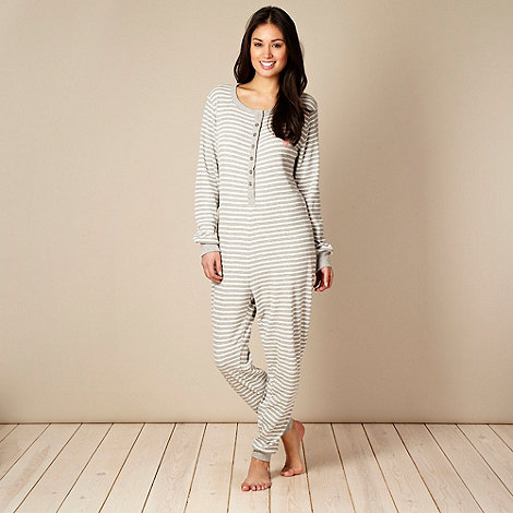 Iris & Edie - Grey striped onesie