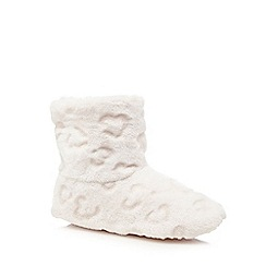Lounge & Sleep - Pale pink embossed slipper boots
