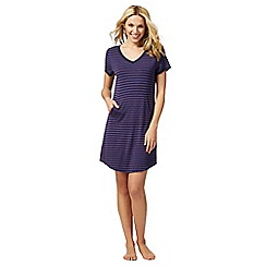 J by Jasper Conran - Navy striped sleep tee