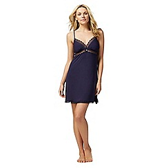J by Jasper Conran - Navy lace padded cup chemise