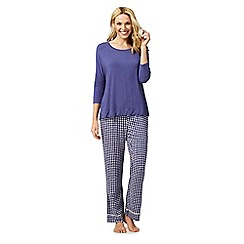 J by Jasper Conran - Purple pyjama top and circle print bottoms set