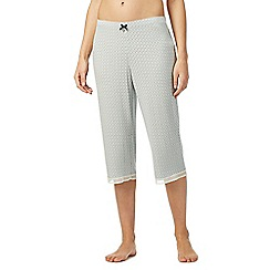J by Jasper Conran - Pale green geometric print cropped pyjama bottoms