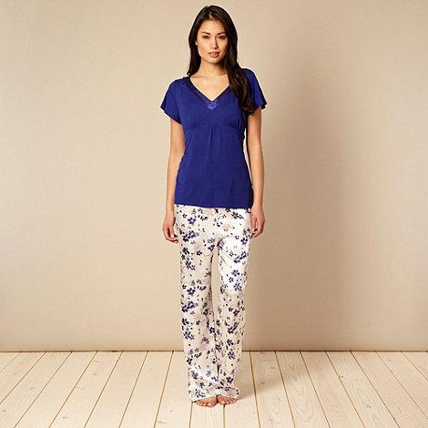 Presence - Blue floral pyjama set