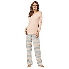 J by Jasper Conran - Peach geometric print pyjama set