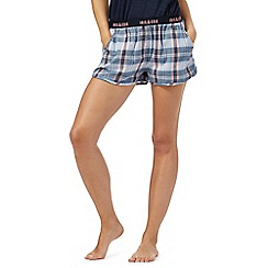 Iris & Edie - Blue checked pyjama shorts