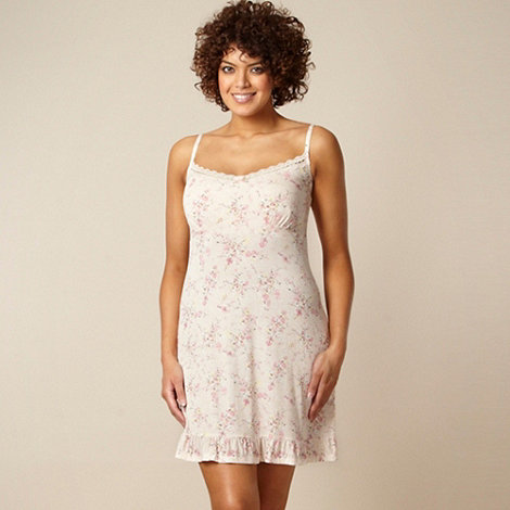 Gorgeous DD+ - Pink floral hidden support DD-G cup chemise