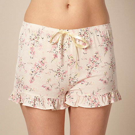 Gorgeous DD+ - Pink floral jersey pyjama shorts