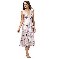 The Collection - Pink floral print satin nightdress