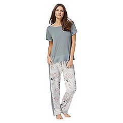 The Collection - Grey floral print pyjama set