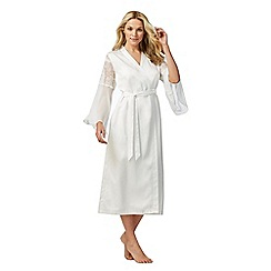 The Collection - Ivory lace satin dressing gown